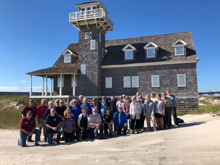 Group Photo at Old Oregon Inlet Station, North Carolina.  October 11, 2018.