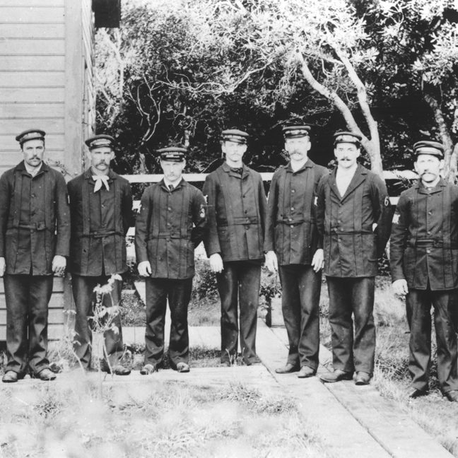 Coos Bay, crew, 1898.TIF USCG HQ Life Saving Service Photos: Personnel file