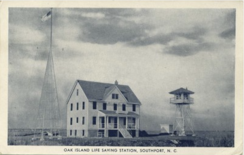 Oak Island Life Saving Station